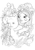 A Girl with a Koala