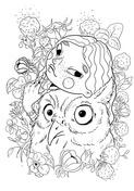 A Girl with An Owl