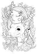 A Girl with Deer