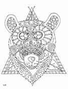 Bear with Tribal Pattern