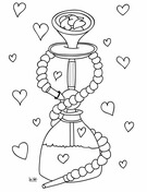 Hookah with Hearts