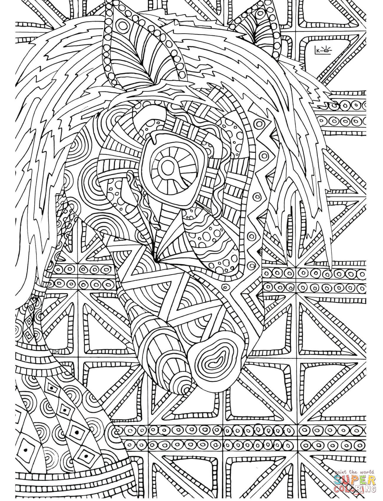 Horse With Tribal Pattern Coloring Books