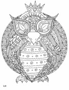 Owl with Tribal Pattern