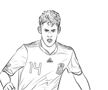 Isco Coloring Page
