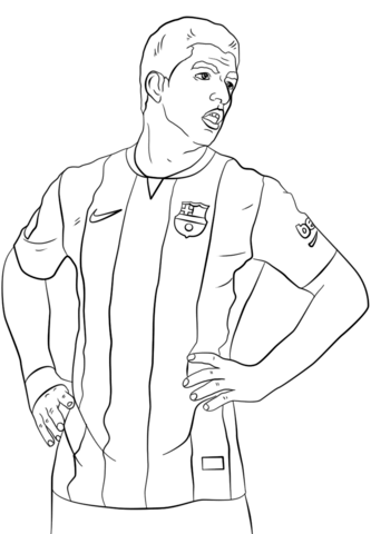 Cristiano Ronaldo Coloring Pages Coloringpagesonly Com