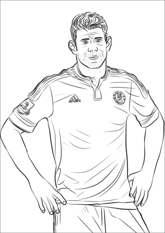 James Rodriguez Coloring Pages Coloringpagesonly Com