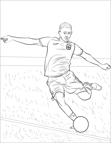 Diego Costa Coloring Pages ColoringPagesOnly