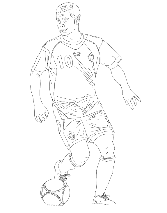 Gareth Bale Coloring Pages Coloringpagesonly Com