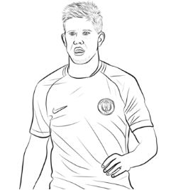 Kylian Mbapp Coloring Pages