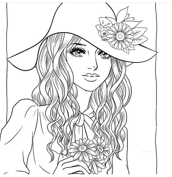The best Beautiful Women Coloring Pages for Adults ...