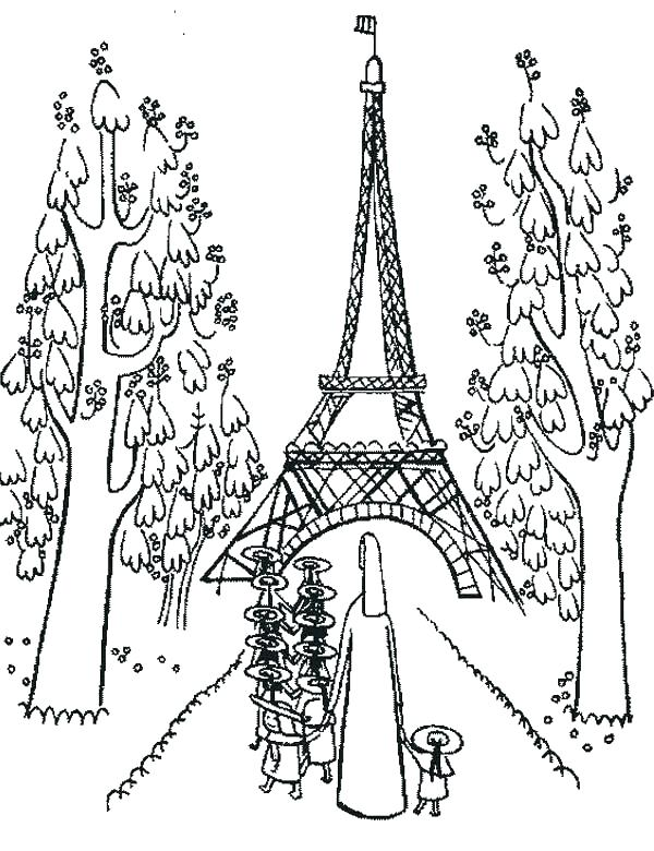 Eiffel tower coloring pages - Hellokids.com | 780x600