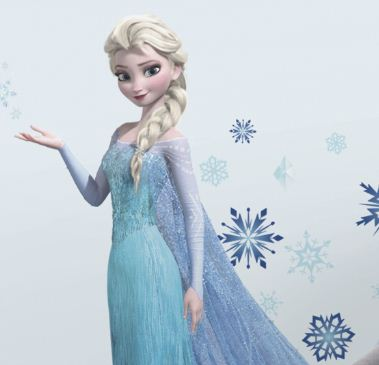 Frozen Elsa Giant Wall Decals With Glitter