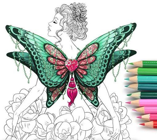 The best Beautiful Women Coloring Pages for Adults