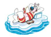 How to draw a cartoon polar bear on ice