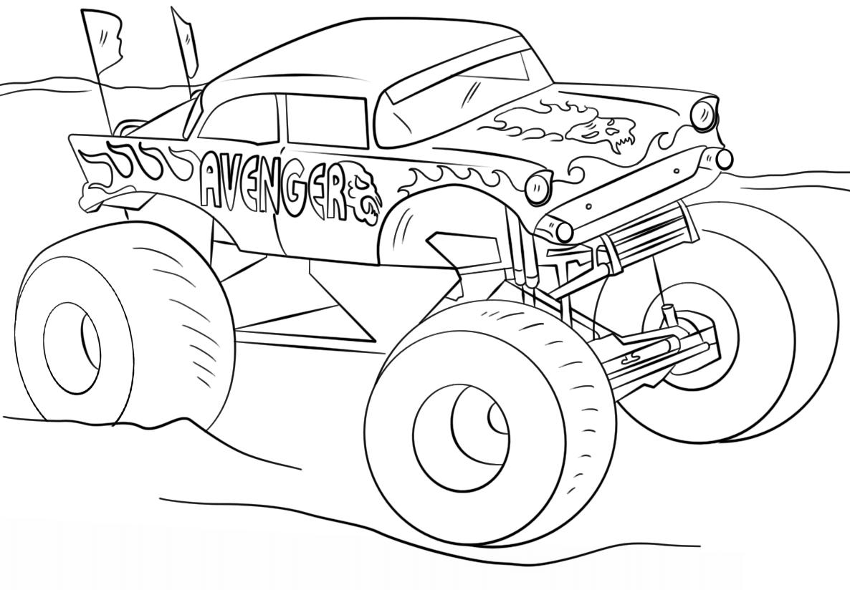 Niedlich Monster Truck Druckbare Malvorlagen Galerie - Malvorlagen ...