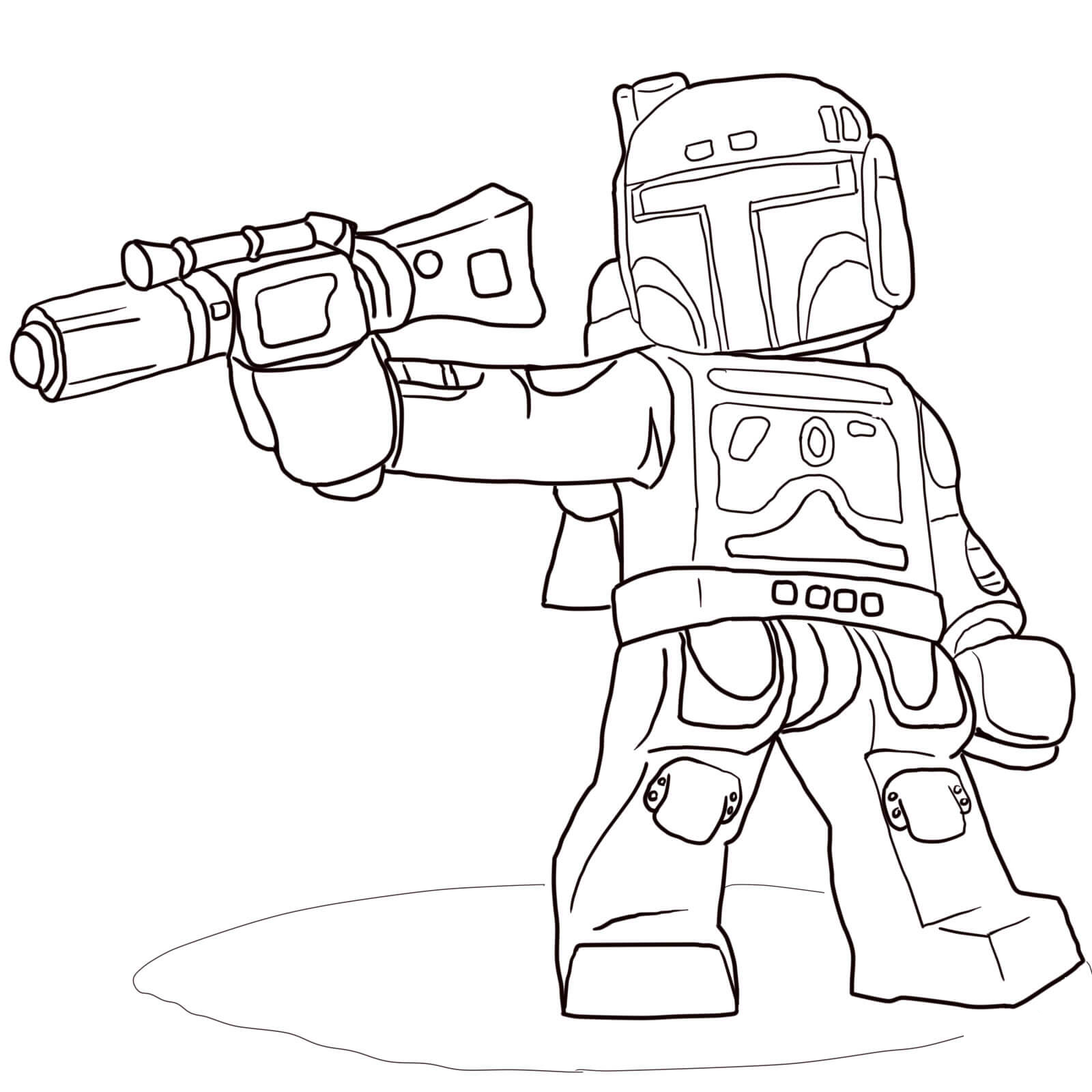 Boba Fett from Lego Star Wars