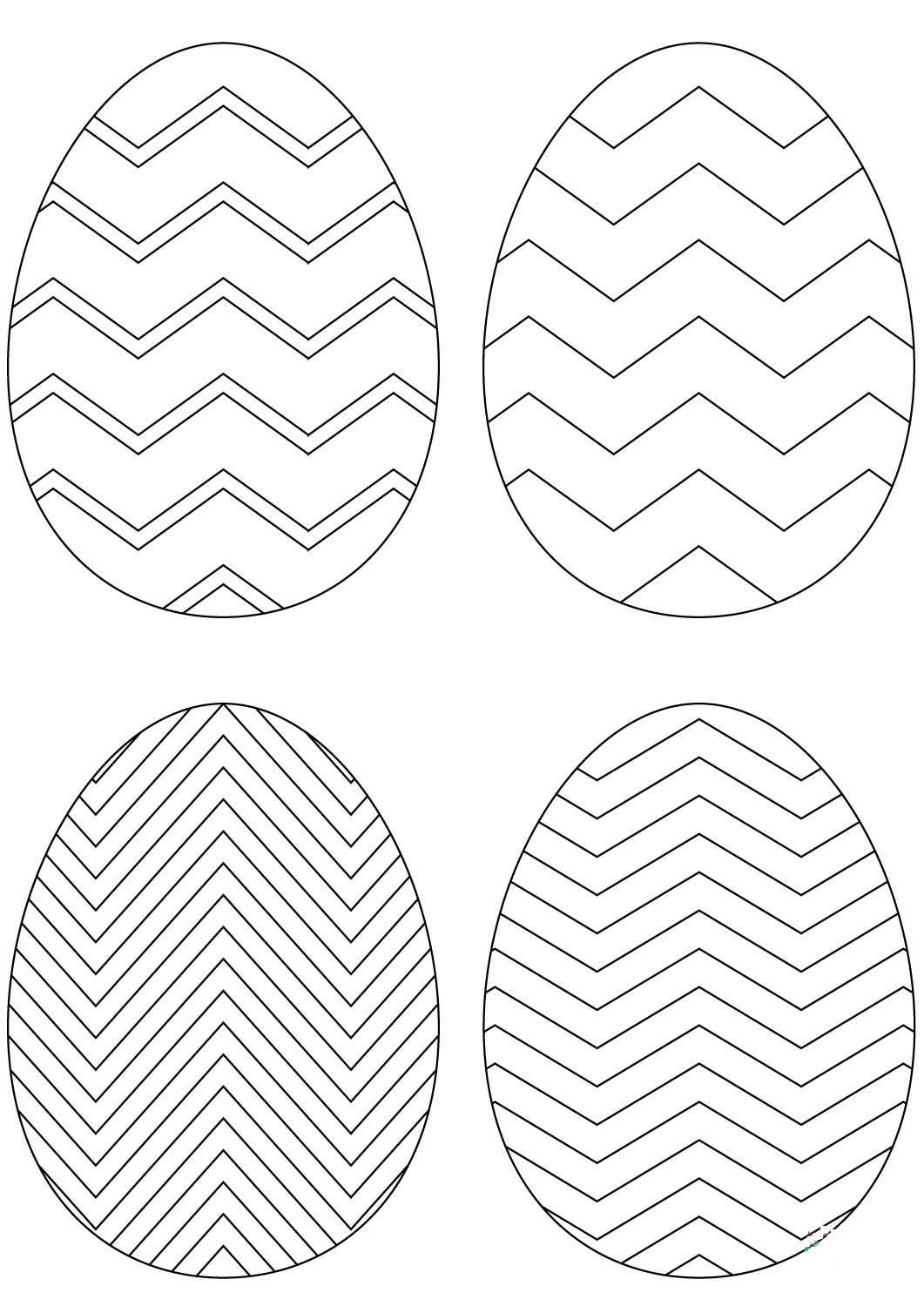 abstract easter egg coloring pages - photo#18