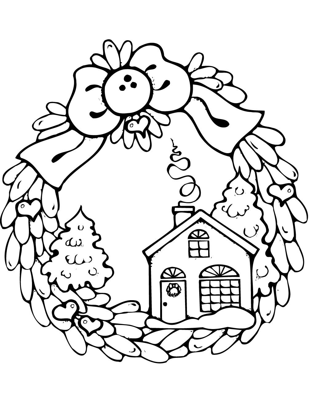 Gingerbread House Christmas Wreath