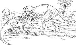 Gorgosaurus vs. Monoclonius From Dinosaurs
