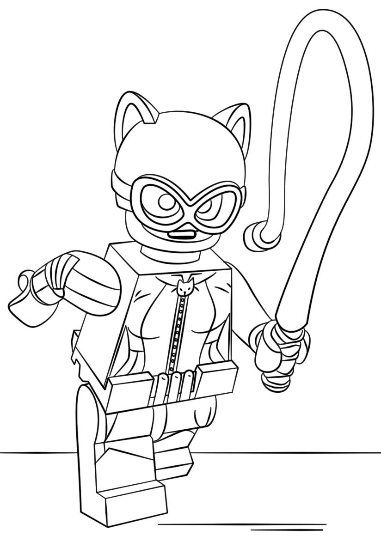 Coloring games batman - Lego Batman Catwoman