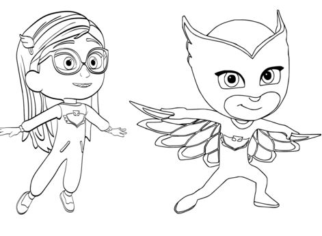owlette coloring pages | Romeo From PJ Masks Coloring Games - Coloring Games at ...