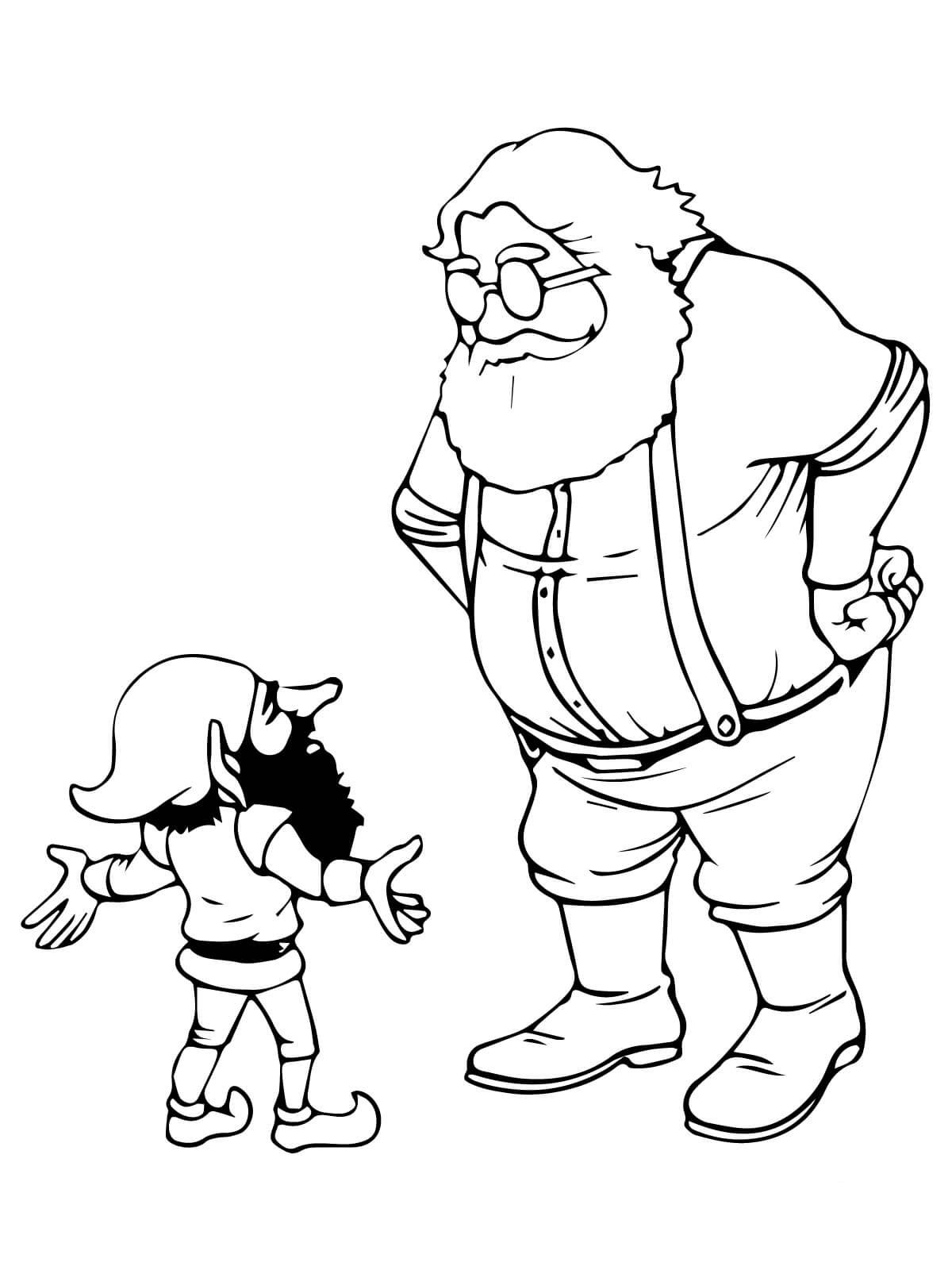 Santa and Christmas Elf Talking