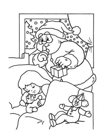 Santa Claus Surprise for a Girl