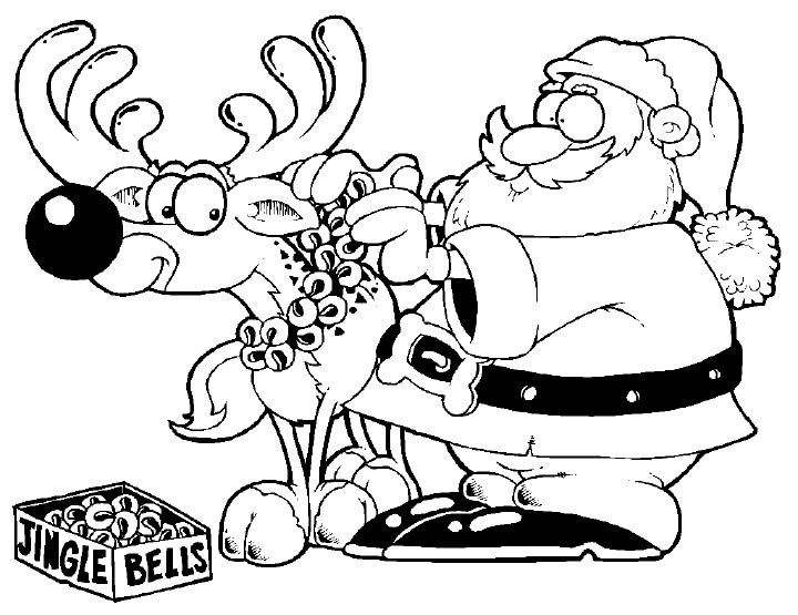 Santa Decorating Reindeer