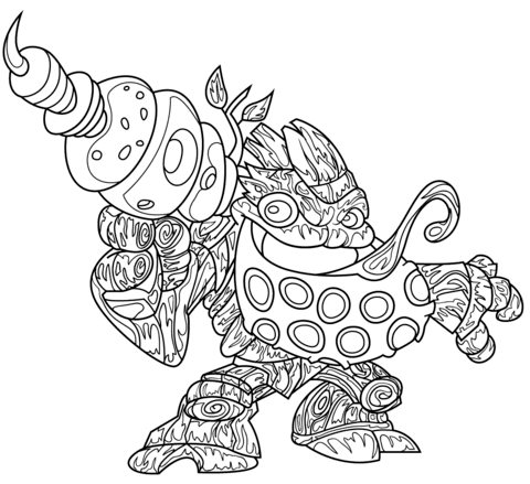 skylanders giants tree rex from skylanders coloring games
