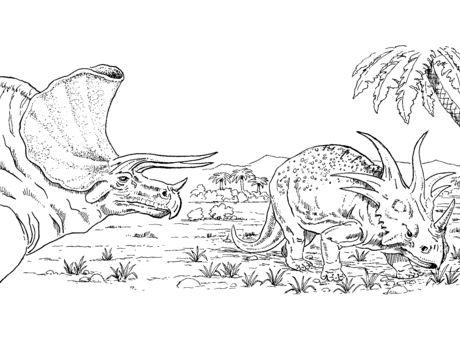 Triceratops And Styracosaurus