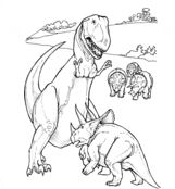 Triceratops And Tyrannosaurus From Dinosaurs