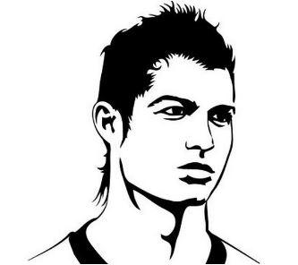 Cristiano Ronaldo-image 1 Coloring Page