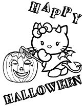 Devil Hello Kitty And Pumpkin Halloween