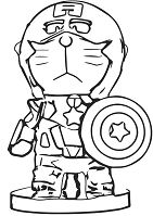 Doraemon As Captain America
