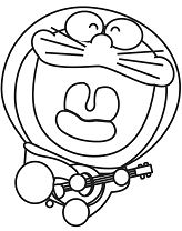 Doraemon Playing Guitar