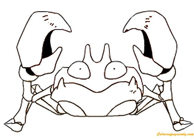 Krabby Pokemon Coloring Page