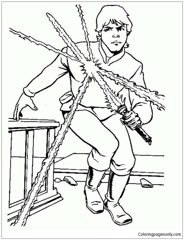 Luke Skywalker From Star Wars Coloring Page