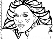 Madonna by Romero Britto