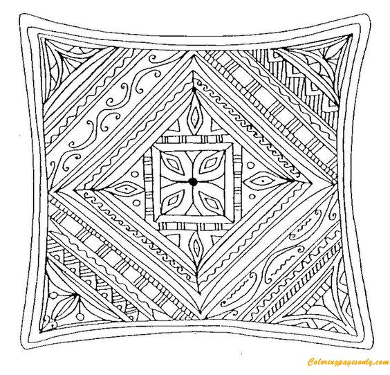 Square Mandala Coloring Page