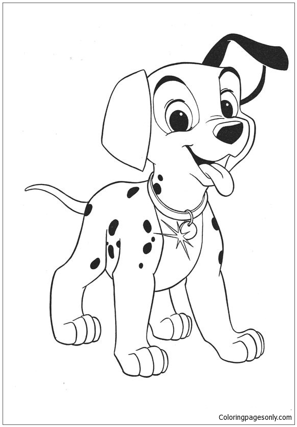 101 Dalmatians Puppy Coloring Page Free Coloring Pages