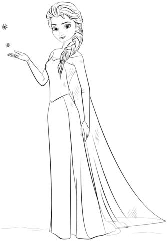 Elsa With Snowflakes