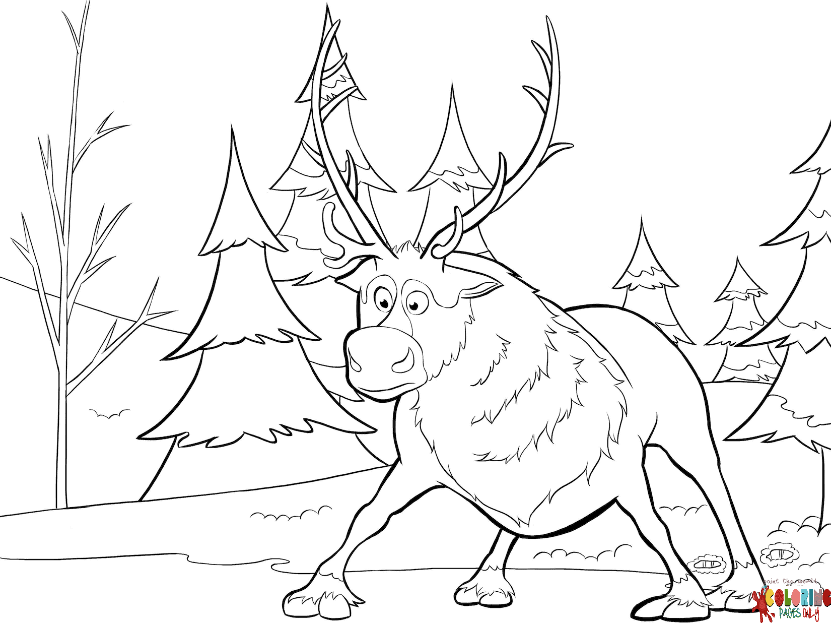 - Shy Sven Frozen Coloring Page - Free Coloring Pages Online