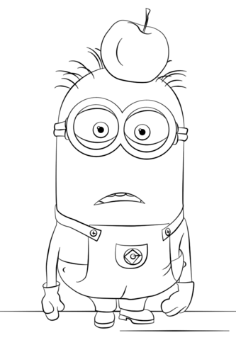 Happy Birthday Minion Coloring Page Free Coloring Pages
