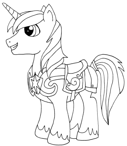 Prince Shining Armor Coloring Page