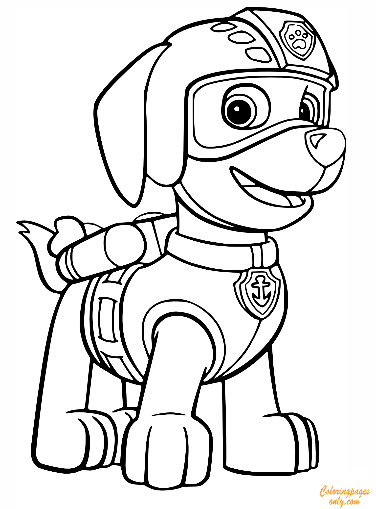 Zuma's Rescue Outfit Coloring Page