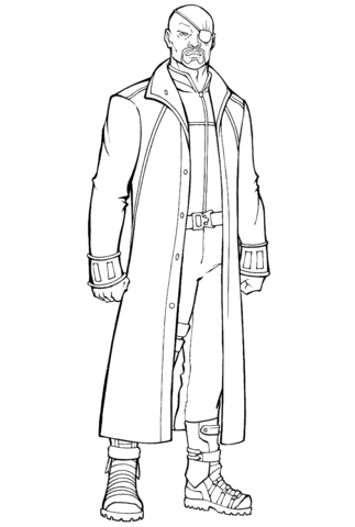 Nick Fury Marvel Coloring Page