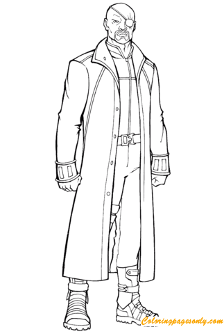 Nick Fury Marvel Coloring Pages