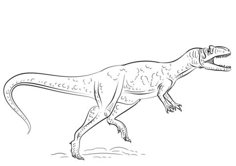 Cruel Allosaurus dinosaurs