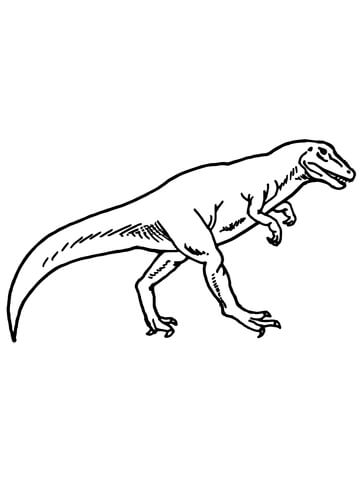Allosaurus Dino Online Coloring Page