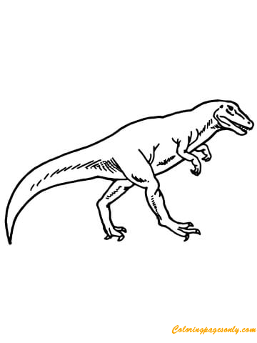 Allosaurus Dino Online Coloring Page Free Coloring Pages